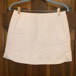 Topshop White Mini Skirt With Pockets Size 6